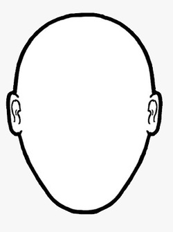Blank human face outline - photo#13